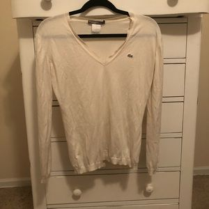 Lacoste V Neck Sweater